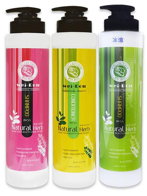 葳柔玫瑰洗髮精6號+茶微量元素洗髮精 5號+輕柔SPA護髮膜9號
